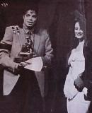Tatiana gives Michael award