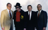 Michael visiting the Museum of Tolerance, Los Angeles, 1993