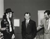 Michael Jackson, Mikhail Baryshnikov and Dr. Arnold Klein