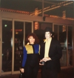 Outside an LA Hotel in 1991