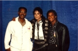 Michael with Alfonso Ribeiro and his father.