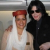 Michael with Hostess inside a flight to Emirates