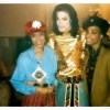 Michael with Fatima Robinson and dancer.